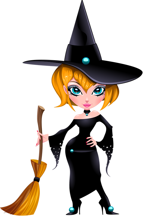 trendy witch clipart