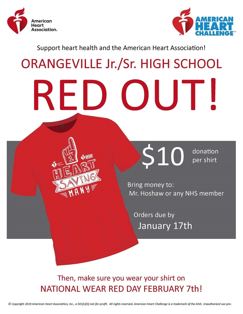 Red Out shirt flyer forms