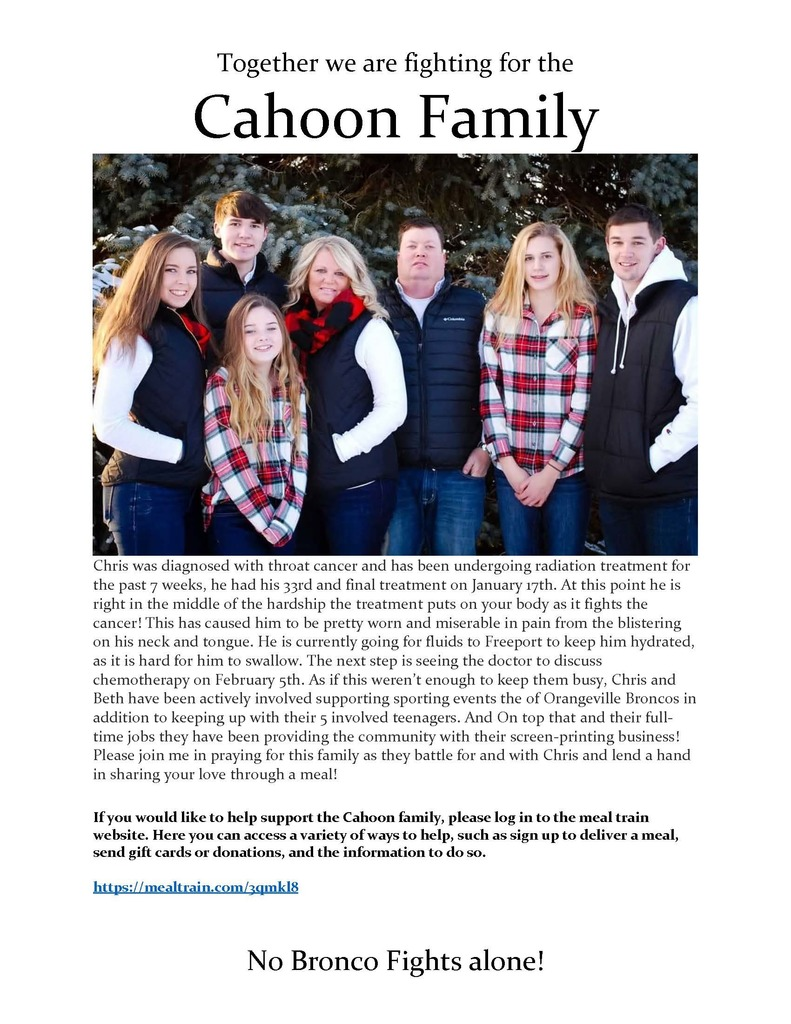 Cahoon family flyer