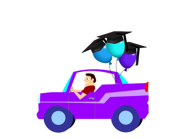 Senior car parade clip art