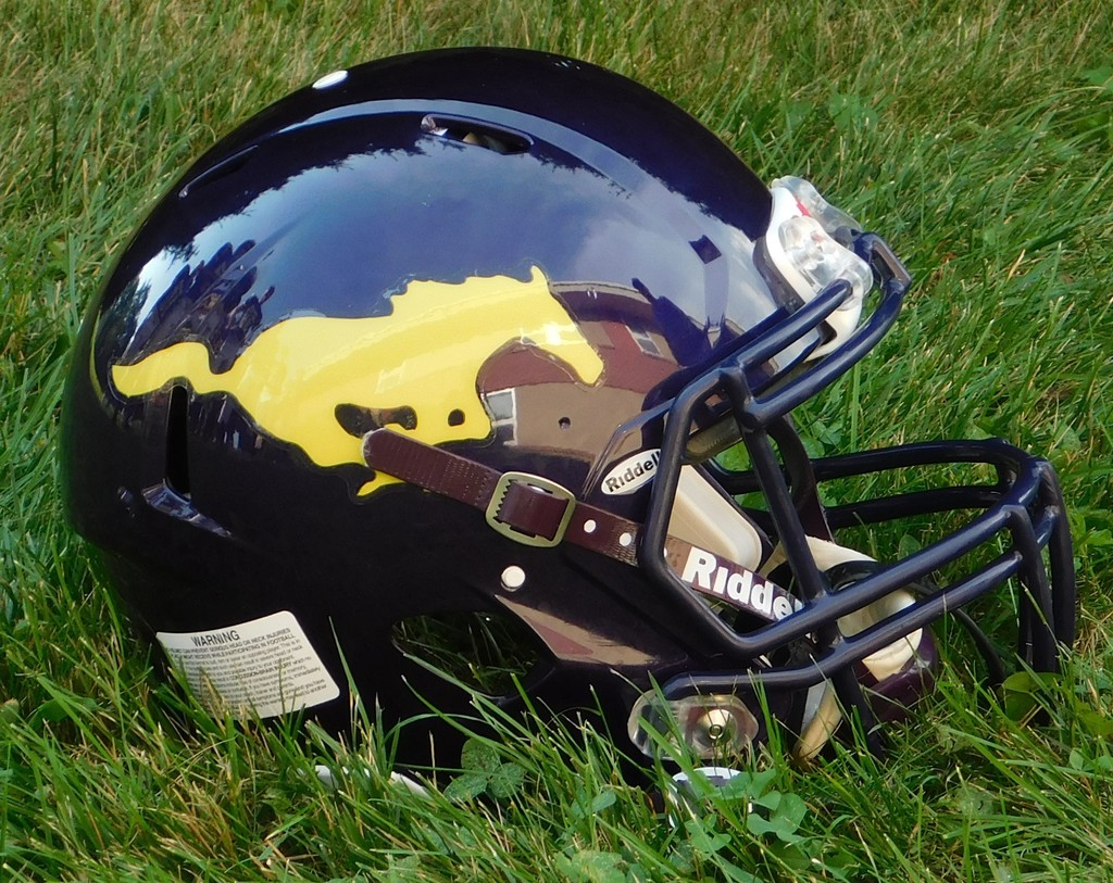 OHS football helmet