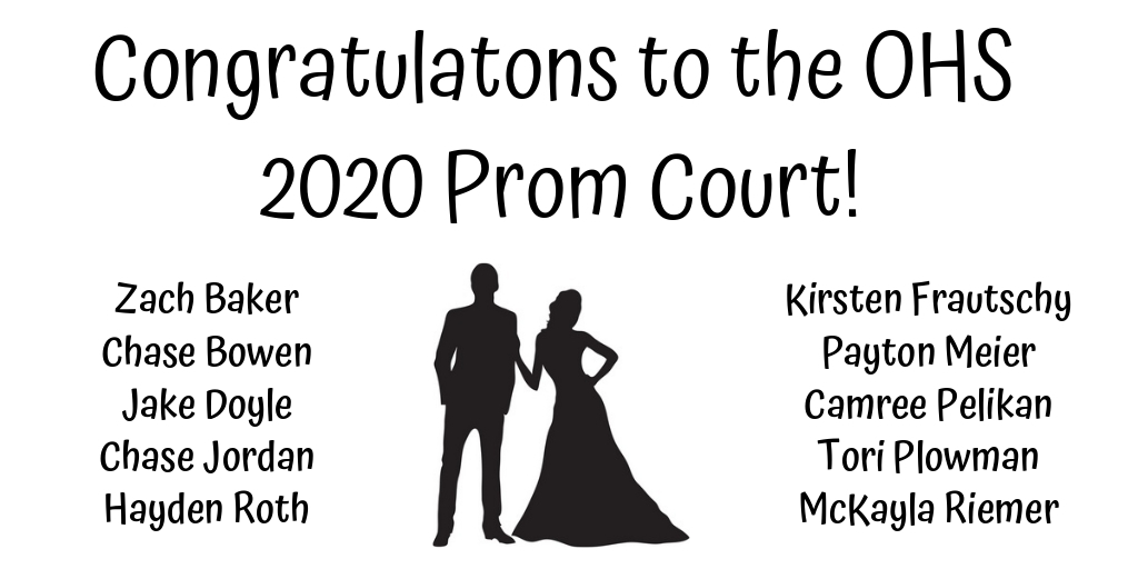 OHS 2020 Prom court