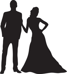 Prom silhouettes